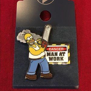 Homer Simpson Man At Work Pin